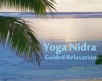 Yoga Nidra guided relaxation recorded audio mp3 for general purpose to release tension meditation sleep hatha mindfulness practice gift boho
