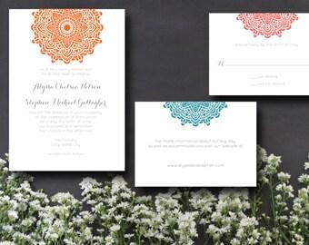 Doily Printable Wedding Invitation Suite