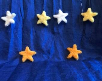 Needle Felted Hanging Stars