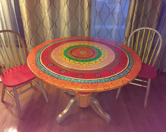 Customized hand painted table