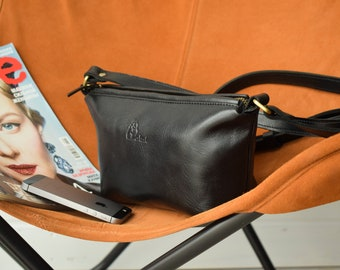 black leather purse, small purse,black crossbody bag,Small cross body bag black,Leather crossbody purse,small bag women,womens small purse,