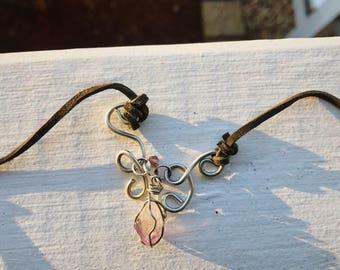 Amethyst Wire Statenent Necklace