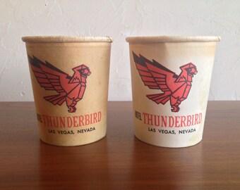 Las Vegas Paper Coin Cup Hotel Thunderbird Casino