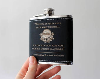 Flask   WHISKEY quote design
