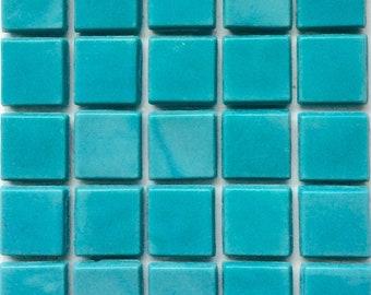 "15mm (3/5"") Turquoise /Aquamarine Opaque Glass Mosaic Tiles/Mosaics/Mosaic Supplies/Discount Mosaic"