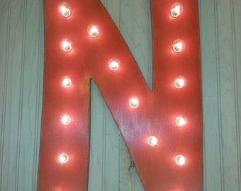 """24"""" Light-Up Letter or Number Marquee - American Font Home Decor, Initials, Party decor"""