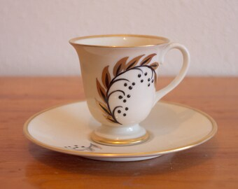Golden Leaf Cup and Saucer