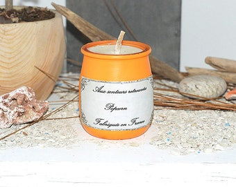 POP CORN-Scented candle-soy wax-craft candle-customizable-interior decoration-gift for her-candle container-House