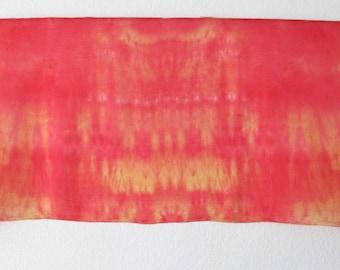 Silk Veil for Bellydance  3 Yard  Silk Evening Wrap Silk Sarong-Fire