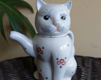 Cat oriental teapot