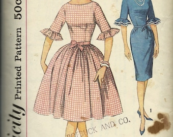 Simplicity 4254  Juniors and Misses One-Piece Dress with Two Skirts     Size 12