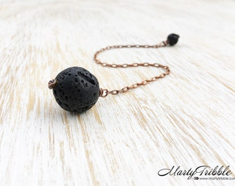 Lava Stone Pendulum, Stone Dowsing Pendulum, Crystal Pendulum, Metaphysical Healing, Scrying, Divination, Fortune Telling, Wiccan Tool (64)
