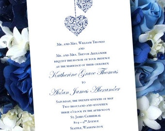 Royal blue invites etsy printable wedding invitations hearts royal blue editable microsoft word template instant download all colors diy you print stopboris Image collections
