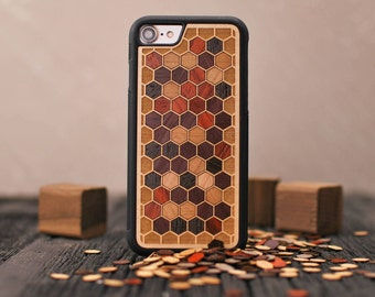 Cellular - Real Wood iPhone Case - iPhone X, 8/7, 8/7 Plus, 6s, 6s Plus, SE/5s - Made in Canada by Keyway Designs - FREE SHIPPING