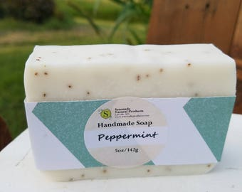 Peppermint Handmade Soap / Essential Oil Soap