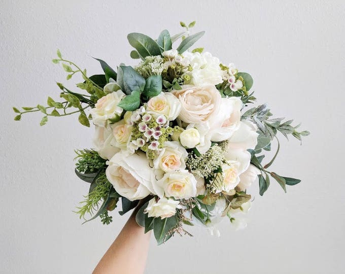 Featured listing image: Wedding Bouquet, Bridal Bouquet, Silk Flower Bouquet, Wedding Flowers, Bouquet, Flower Bouquet, Silk Flowers, Brides Bouquet