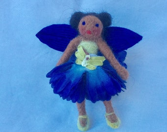 Brown skinned flower fairy doll Waldorf fairy doll Mothers Day Gift