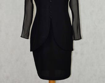 vintage black suit dress, vintage clothing, vintage, clothing, vintage dresses, women's dresses, women's clothing, women's jackets,