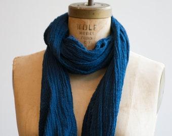 Sky blue (light) Raw Organic Cotton Scarf