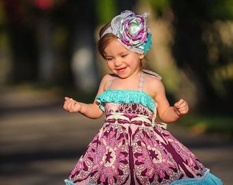 Elise Halter Dress PDF Sewing Pattern, including sizes 12 months-14 years, Girls Halter Dress Pattern