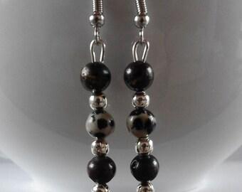 Red Jasper and Labradorite dangle/drop Earrings