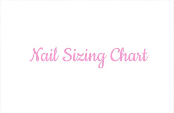 Nail Sizing Chart| Press On Nails |Any Shape And Size | Fake False Glue On Nails| by Studded Rose Nails