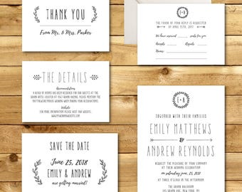 Printable Wedding Invitation Template Hibiscus