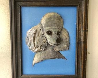 """Poodle Dog Art 3D Decoupage Painting 11"""" x 13"""""""