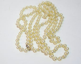 Faux Pearls, Two Strands Vintage Faux Pearl Necklaces