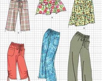 OUT of PRINT Simplicity Pattern 2414 Misses Skirt & Pants