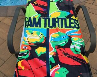TMNT Teenage Mutant Ninja Turtles TEAM Turtles Beach Towel - Personalized Beach Towel