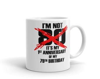 80th Birthday Coffee Mug Gift Idea