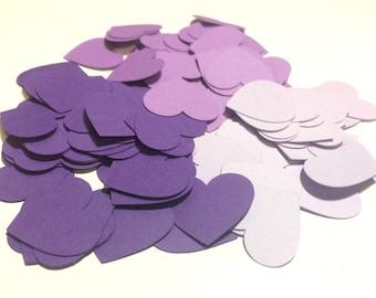 Purple Heart Confetti - Wedding Confetti - Paper Confetti - Paper Hearts - Baby Shower Confetti - Purple Party Decor - Table Scatter