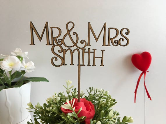 Mr & Mrs Wooden Cake Toppers Wedding decorations Rustic weddings Personalized cake toppers Just married Anniversary Custom Wooden Monogram