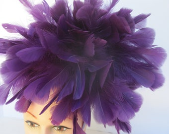 All Feathered Regal & Royal Purple Headpiece