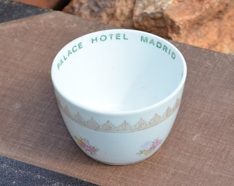 Antique cup from Palace Hotel Madrid with rose designs