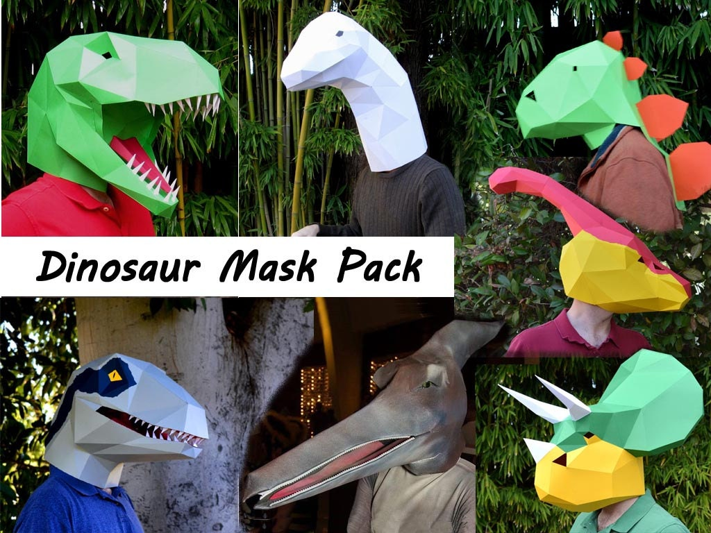 Fine dinosaur mask template photos example resume and for Make your own halloween mask online