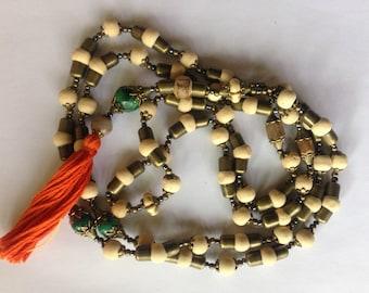 Go Green Tulsi and Bloodstone 108 Bead Yoga Mala