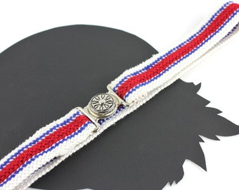 Red White & Blue Woven Sporty Vintage Belt