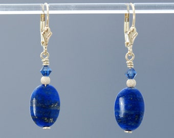 Lapis Lazuli earrings in Gold / Lapis earrings / Lapis Lazuli jewelry / Lapis Lazuli beads / Lapis Lazuli cosplay / SPIRITUAL ALIGNMENT