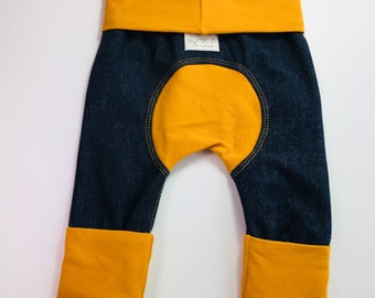 Miniloones, grow with me pants, 3-12 months