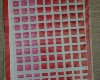 Santa Claus plastic pink mosaic stickers