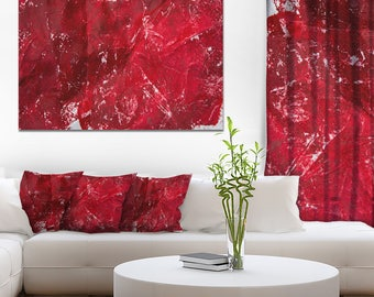 Abstract Red Texture - Abstract Canvas and Metal Art Print - (PT6514)