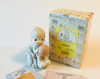 "Precious Moments, "" Give Ability A Chance"", Limited Edition, #192368 Enesco, Boy in Wheelchair"