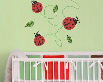 Lady Bugs Nursery Wall Decals