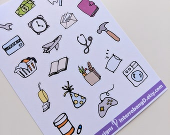 A149 - Everyday Items - Planner Stickers