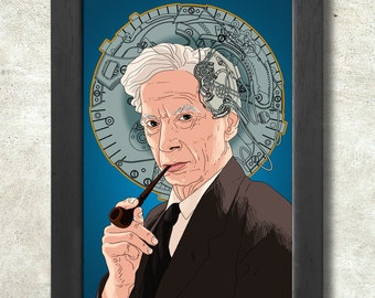 Bertrand Russell print + 3 for 2 offer! size A3+  33 x 48 cm;  13 x 19 in