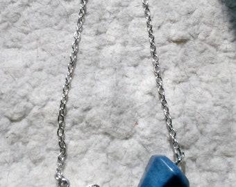 Lapis Lazuli Pendulum With Bead and Dragonfly
