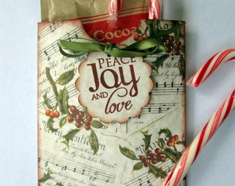 Hot Chocolate Favor, Hot Chocolate Pocket, Christmas Music Favor (6)