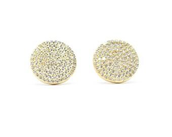 Geometric Circle Golden Earrings